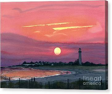 Cape May Sunset Canvas Print by Barbara Jewell