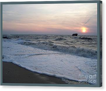 Cape May Sunset Beach Nj Canvas Print