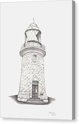 Canvas Print featuring the drawing Cape Naturalist Lighthouse by Patricia Hiltz
