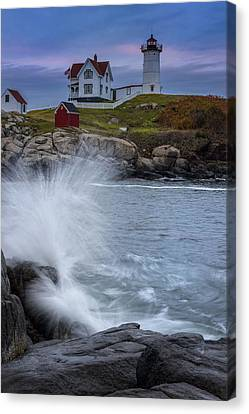 Cape Neddick Dusk Canvas Print by Rick Berk