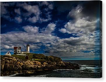 Cape Neddick Lighthouse Canvas Print by Jeremy Mancuso