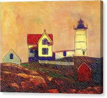 Cape Neddick Lighthouse Canvas Print