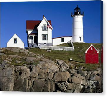 Cape Neddick Lighthouse Canvas Print by Rafael Macia