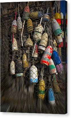 Cape Neddick Lobster Buoys Canvas Print