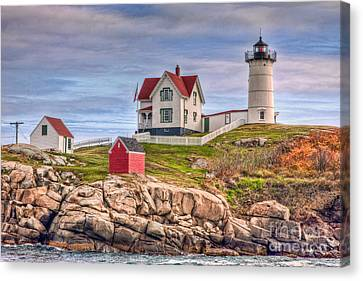 Cape Neddick Nubble Lighthouse II Canvas Print by Clarence Holmes