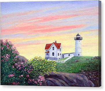 Cape Neddick Sunrise Canvas Print by Fran Brooks