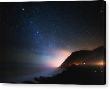 Cape Perpetua Celestial Skies Canvas Print by Darren  White