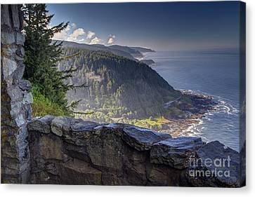 Cape Perpetua Lookout Canvas Print by Mark Kiver