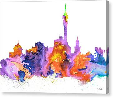 Cape Town Canvas Print by Watercolor Girl