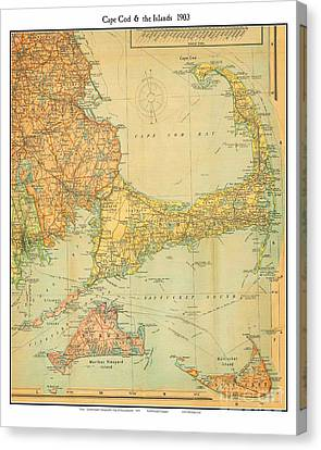 Capecod Mass 1903 Canvas Print by Celestial Images