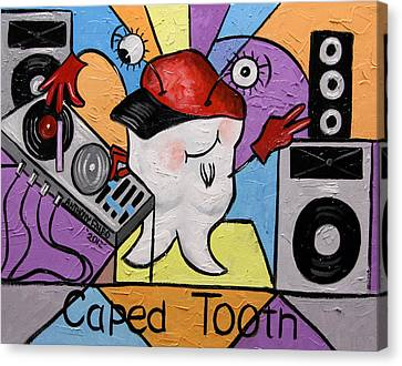 Caped Tooth Canvas Print by Anthony Falbo
