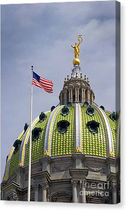 Paul Faust Canvas Print - Capital Dome by Paul W Faust -  Impressions of Light