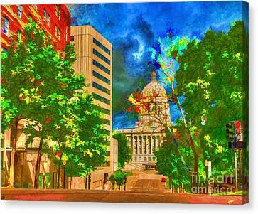 Capital - Jefferson City Missouri - Painting Canvas Print