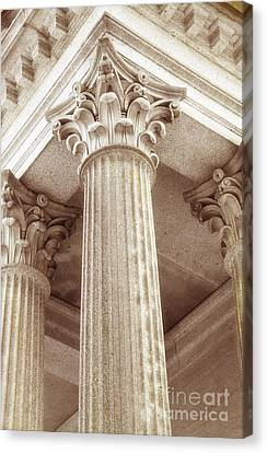 Capital Of The Column Canvas Print by Charline Xia