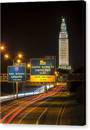 Capitol Area Access Road Canvas Print by Andy Crawford