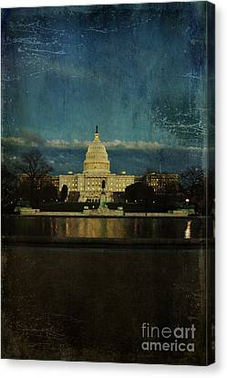 Capitol Blues Canvas Print by Terry Rowe