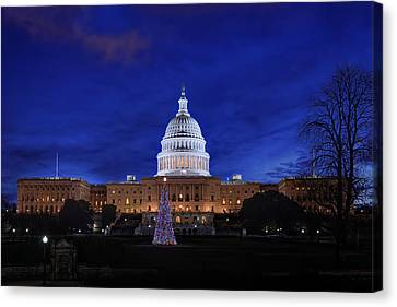 Capitol Christmas - 2013 Canvas Print