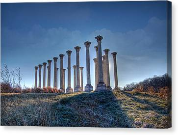 Canvas Print featuring the photograph Capitol Columns by Michael Donahue