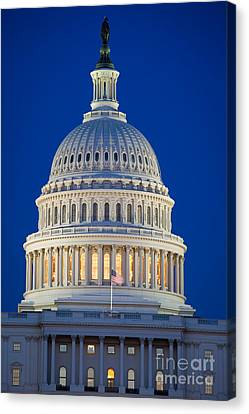 Capitol Dome By Night Canvas Print