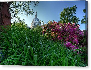 Canvas Print featuring the photograph Capitol Dome by Michael Donahue