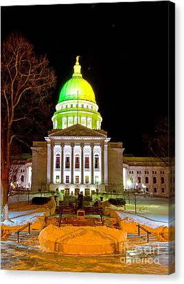Capitol Madison Packers Colors Canvas Print by Steven Ralser