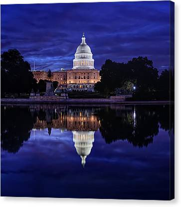 Workers Canvas Print - Capitol Morning by Metro DC Photography