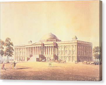 Capitol Of The United States, Engraved By Thomas Sutherland, 1825 Aquatint Canvas Print