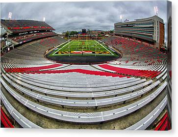 Capitol One Field Canvas Print by Mitch Cat