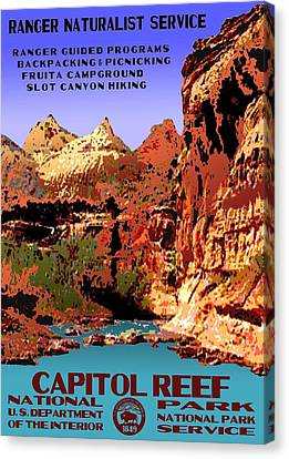 Capitol Reef National Park Vintage Poster Canvas Print