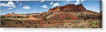 Canvas Print featuring the photograph Capitol Reef Panorama No. 1 by Tammy Wetzel