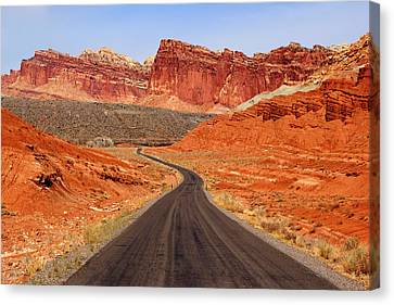 Capitol Reef Road Vii Canvas Print