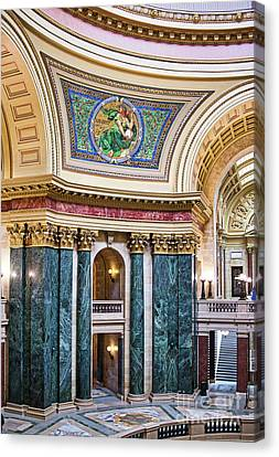 Capitol - Madison - Wisconsin Canvas Print by Steven Ralser