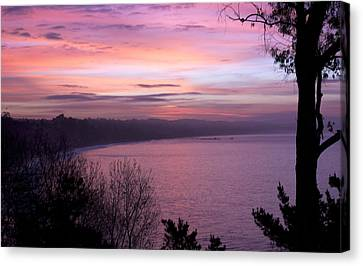 Canvas Print featuring the photograph Capitola Bluffs by Lora Lee Chapman