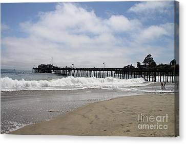 Capitola Wharf Canvas Print by Christiane Schulze Art And Photography