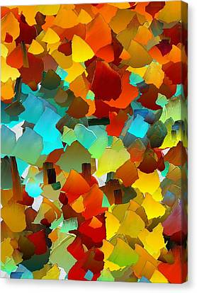 Capixart Abstract 24 Canvas Print by Chris Axford
