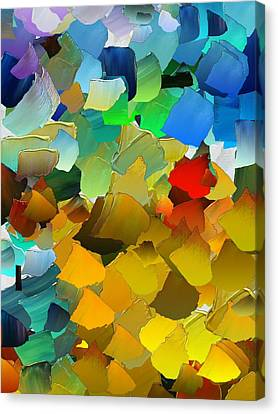 Capixart Abstract 33 Canvas Print by Chris Axford