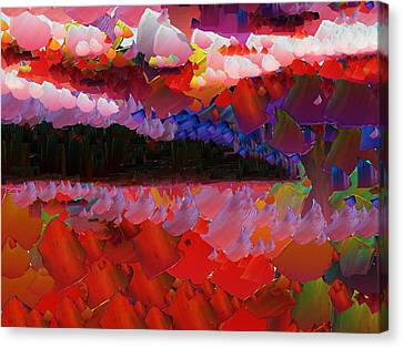 Capixart Abstract 39 Canvas Print by Chris Axford