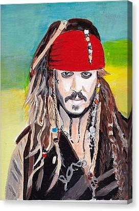 Cap'n Jack Sparrow Canvas Print