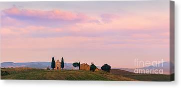 Cappella Della Madonna Di Vitaleta Canvas Print by Henk Meijer Photography