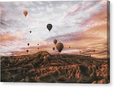Hot Air Balloon Canvas Print - Cappodocia Hot Air Balloon by Ayse  Yorgancilar