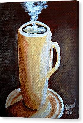 Cappuccino 3 Canvas Print by Christine Huwer