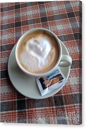 Cappuccino Love Canvas Print by Ausra Huntington nee Paulauskaite