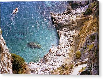 Capri Ocean Coast Canvas Print by Ted Pollard