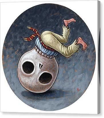 Caprichos Calaveras #1 Canvas Print by Holly Wood