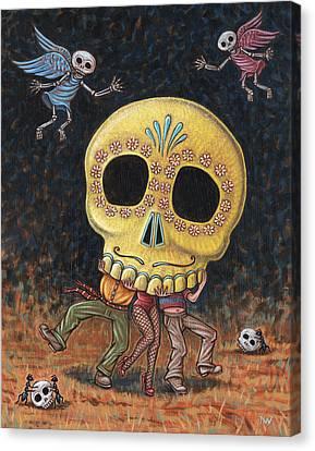 Caprichos Calaveras #2 Canvas Print by Holly Wood