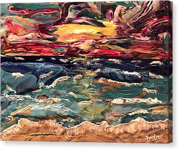 Capricious Sea Canvas Print