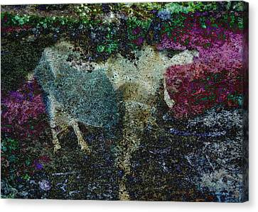 Capricorn Abstract Canvas Print by Sarah Vernon