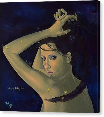 Capricorn From Zodiac Series Canvas Print by Dorina  Costras