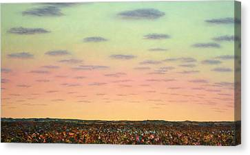 Caprock Sunrise Canvas Print by James W Johnson