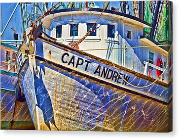Capt Andrew Shrimper Canvas Print by Bill Barber